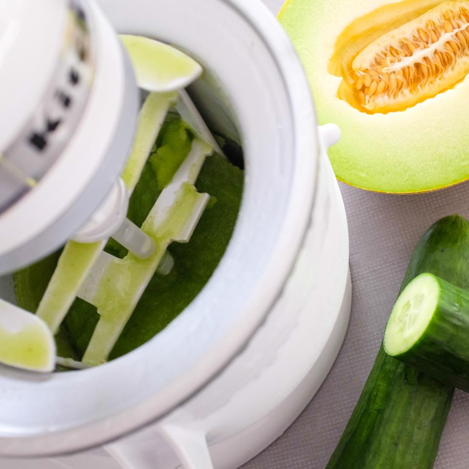 KitchenAid - sorbet z melounu galia s okurkou a mátou